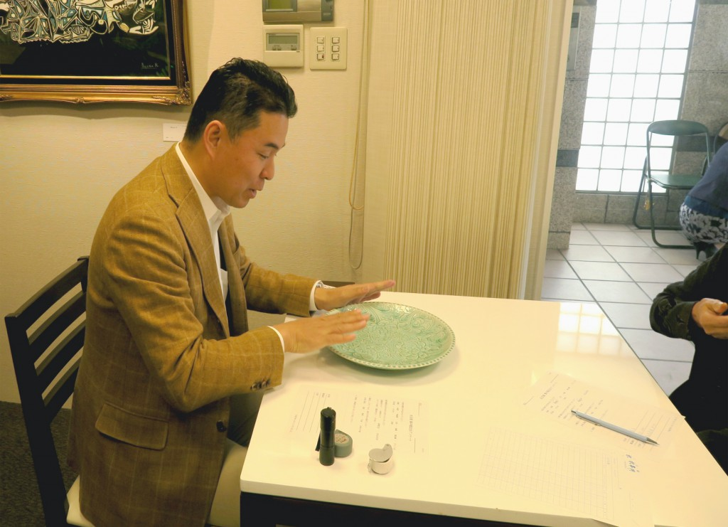 名古屋買取鑑定会にて陶磁器の査定