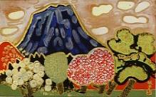 片岡球子「目出度き山と樹」