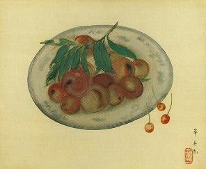 村上華岳「皿に果物」