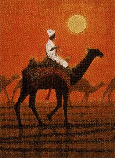 平山郁夫「朝陽の砂漠を行く」