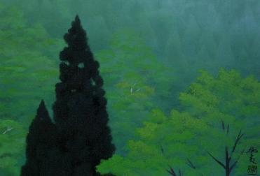 東山魁夷「霧の山狭」