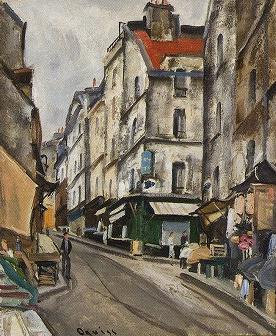荻須高徳「ムフタール通り、パリ」