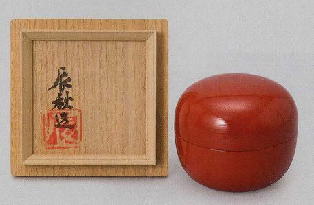 黒田辰秋「根来花器」