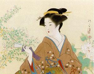 鏑木清方「萩と芙蓉」