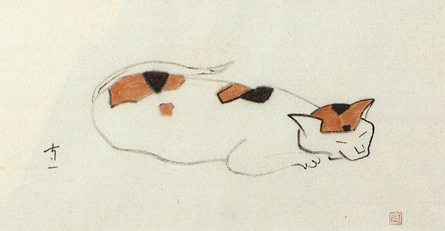 熊谷守一「三毛猫」