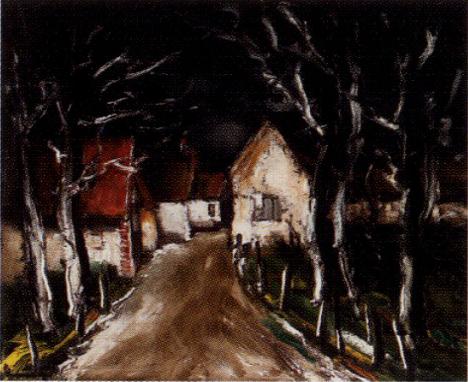 モーリス・ド・ヴラマンク「ダンピエールの夜」