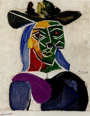 ピカソ「MAITRES DE L'ART MODERNE(リトポスター)」