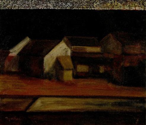 鳥海青児「川沿いの家」