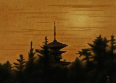平山郁夫「薬師寺の朝」