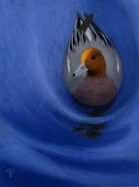 杉山寧「水鳥」