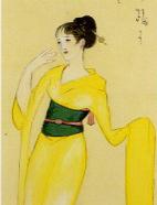 竹久夢二「宵待ち草」(部分)