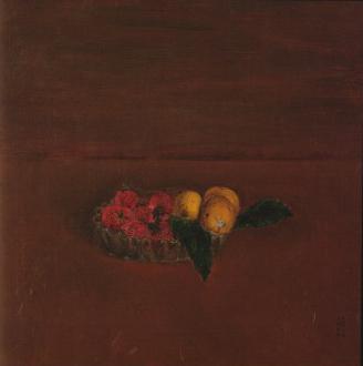 岸田劉生「枇杷と苺とギヤマン皿の静物」