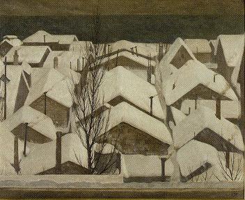 福井良之助「雪降る町」