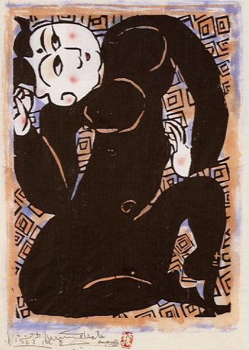 棟方志功「鐘渓頌雷紋之柵」1963
