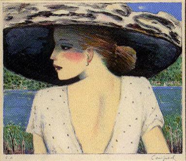 カシニョール「帽子を被ったオード」