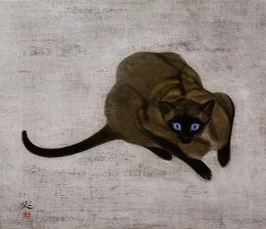 加山又造「猫」