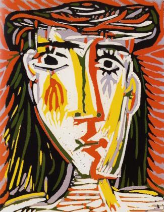 ピカソ「帽子を被った女」