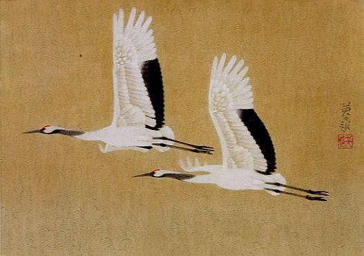 岩橋英遠「双鶴」