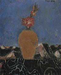 鳥海青児「花の図」
