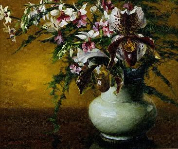 和田英作「蘭の花」