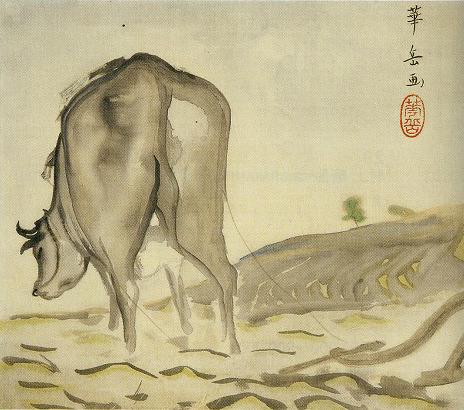 村上華岳「耕牛」
