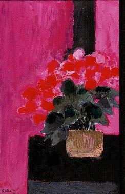 ベルナール・カトラン「テーブルの上の花」