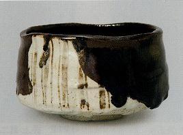 加藤唐九郎「織部茶碗」