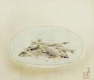 前田青邨「魚」