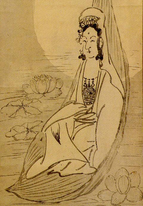 白隠禅師「白衣観音」(部分)