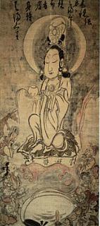 白隠禅師「蛤蜊観音像」(永青文庫蔵)