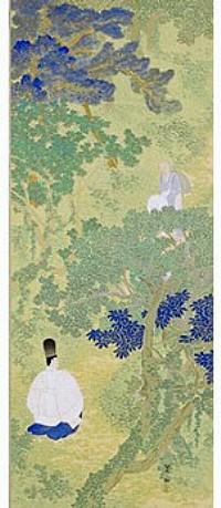 今村紫紅「宇津の山路」(静岡県立美術館蔵)