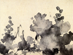 花卉雑画巻・部分(東京国立博物館)