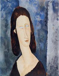 モディリアーニ「青い目のジャンヌ・エビュテルヌ」