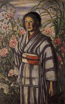 薔薇と少女(東京国立近代美術館)