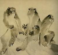 長沢芦雪「群猿図」(襖絵部分・大乗寺所蔵)