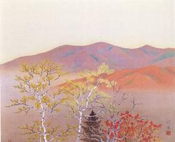 小野竹喬「高原之秋」