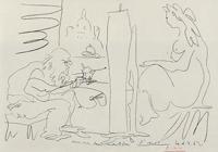 ピカソ「画家とモデル」