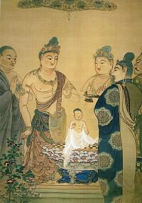 下村観山「仏誕」