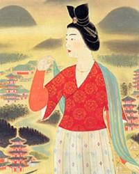 飛鳥の春の額田王(滋賀県立近代美術館所蔵)