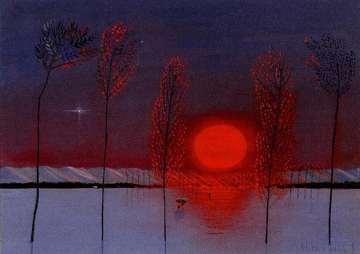 斎藤真一「紅い陽 冬の旅」
