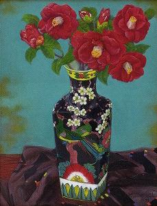 奥谷博「花鳥壺の椿」