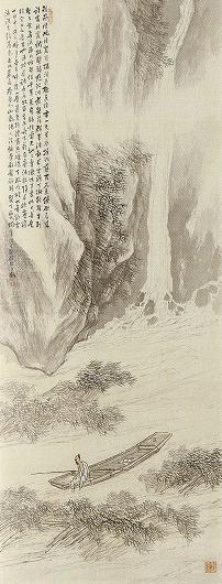 橋本関雪「清渓濯足図」