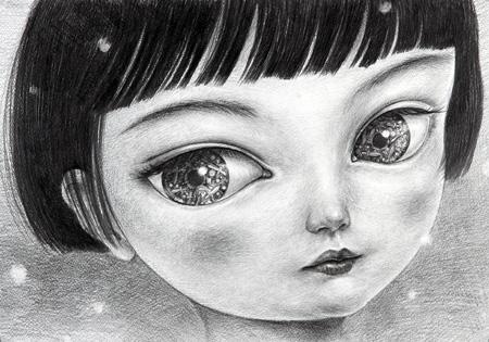 鴻池朋子「見ゆ - 雪 4」