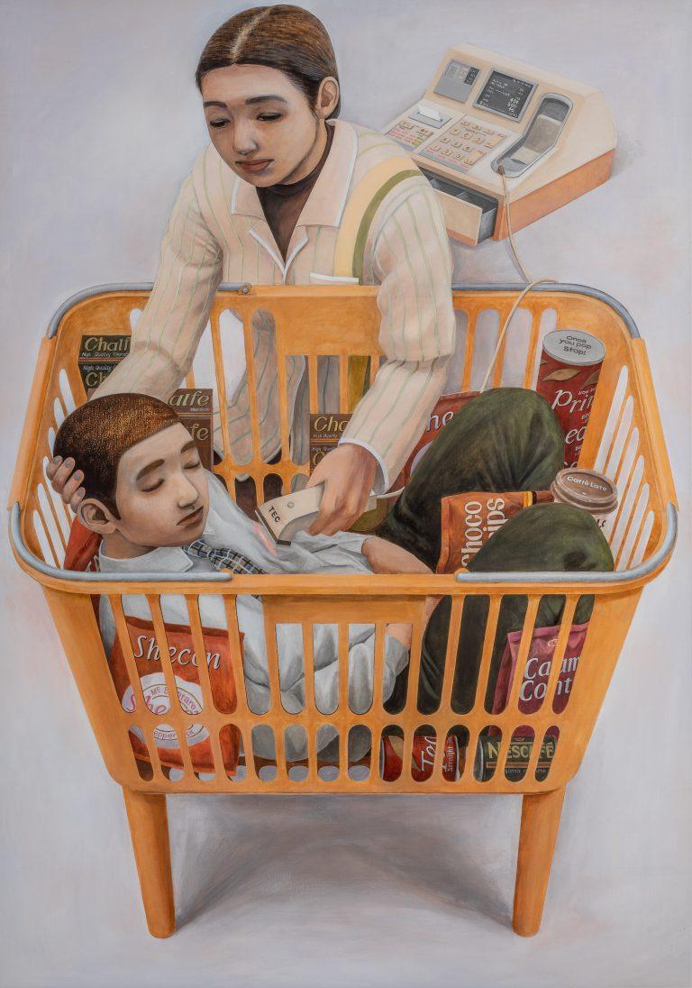 石田徹也「コンビニエンスストアの母子像」