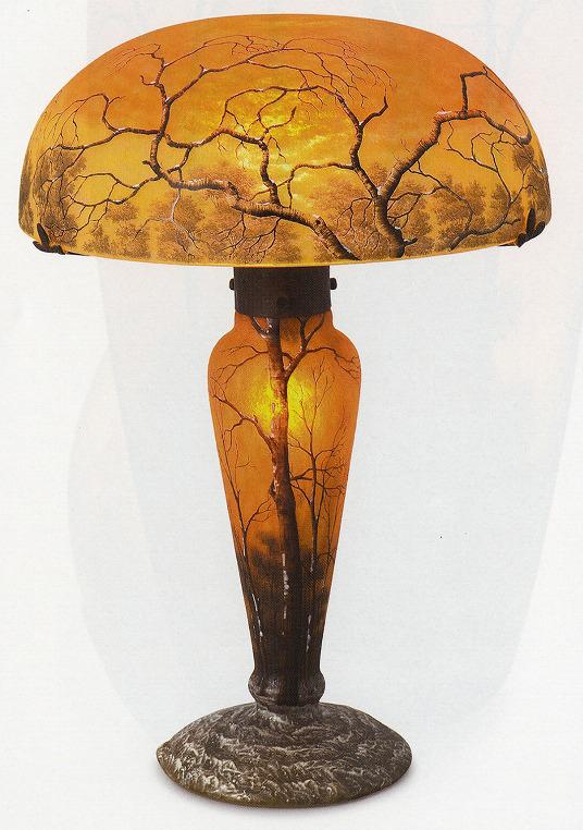 ドーム「冬景色文ランプ」