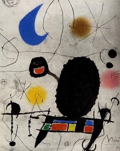 ジョアン・ミロ「太陽の鳥・月の鳥・閃光」展カタログより