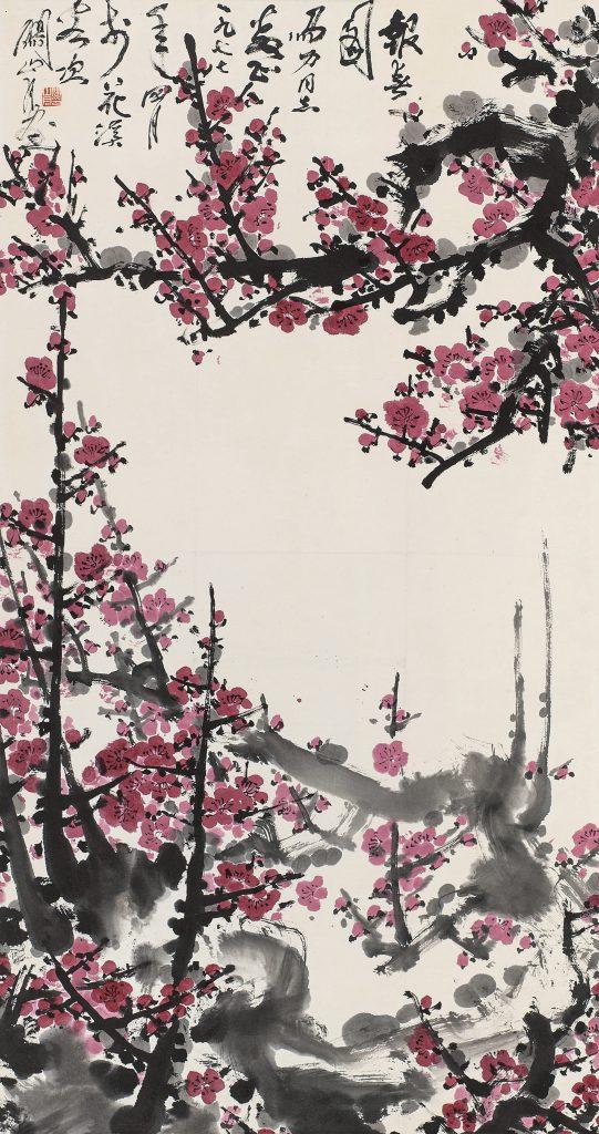 関山月「報春圖(1977年作)」