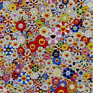 村上隆「天国のお花畑」