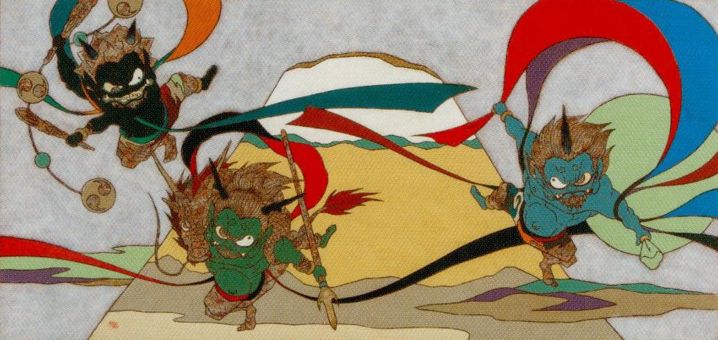 瀧下和之「富嶽風神雷神図」