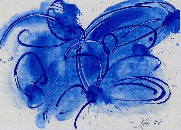 今井俊満「藍」